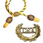 Officers Gold & Black Hat Cord And CSA Badge